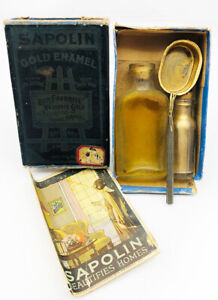 Antique Sapolin Gold Enamel Kit in Box Gerstendorfer Brothers NYC 1922 Collector