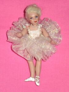 "RARE! 3"" Artist Porcelain Fairy Ballerina Doll - Please Read"