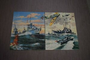 Vtg Fighters For Freedom Puzzle, U.S. Army, Navy, Air Force, No. 3902, Whitman