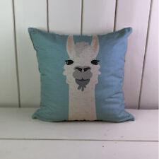 Alpaca lama cute Linen Cushions Cover Sofa Throw Pillow Case