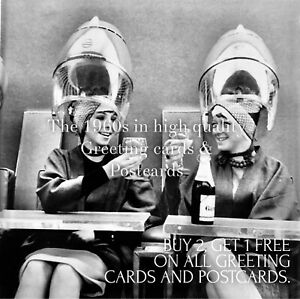 29. Under The Dryers 1965. Sixties Quality Greeting Card. Leonards Hairdressers