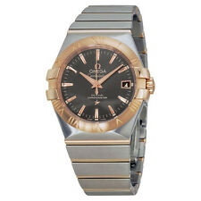 Omega Constellation Automatic Grey Dial Steel and 18kt Rose Gold Mens Watch