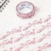 Floral Washi Tape Scrapbooking Cherry Blossom 7M Diary Card Masking bara Top