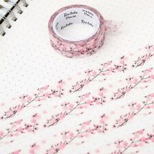 Floral Washi Tape Scrapbooking Cherry Blossom 7M Diary Card Adhesives Masking