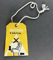 IBERIA CABINA VINTAGE AIRLINE BAG TAG LUGGAGE BAGGAGE LABEL SPAIN