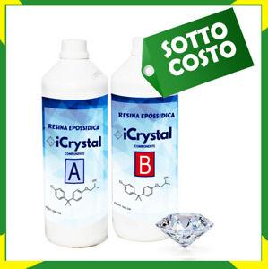 Résine Époxy Transparent Icrystal KG 1,5 Auto-Nivelant - Effetto Specchio
