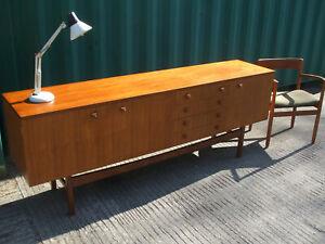 Vintage mid century teak sideboard, high quality Danish style, Vesper Furniture