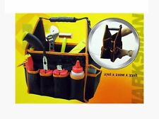 "11"" Fold able Tool bag Toolbox from Fabric light Carrying Strap 27LX21WX33H CM"