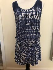 Thakoon Addition Blue and White Silk Dress 8
