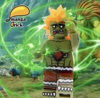 **NEW** MANGA BRICK Custom Street Fighter Blanka Lego Minifigure
