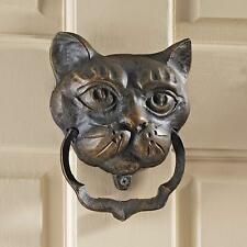 Qh10572 - Black Cat Authentic Foundry Iron Door Knocker