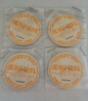 4 Jewett City, Conn. Norman Dairy Orange Drink Milk Bottle Caps.            #702