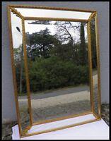 ANCIEN MIROIR parclose en bois peint doré XXeme Cadre glace trumeau de cheminée