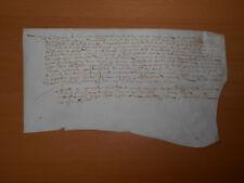 1611 original signed antique manuscript law legal vellum document handwritten