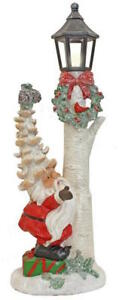 Large Fun Christmas Santa Lamp Light 40cm Tall Tree Lamp & Santa Fir Cone Hat