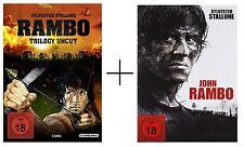 RAMBO TRILOGY 1 - 4, (Alle Teile 1, 2, 3, 4), John Rambo, UNCUT, ab 18, DVD, NEU