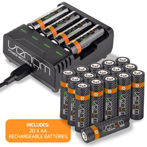 Rechargeable AA / AAA Batteries and Intelligent Charging Dock - Venom Power