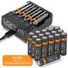 Rechargeable AA / AAA Batteries and Intelligent Charging Dock - Venom Power