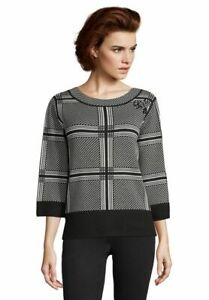 Betty Barclay Jumper Size 18 BNWT Black & White Check RRP £80 Now £36