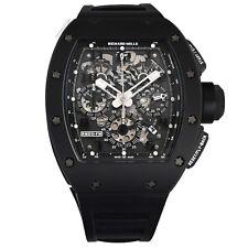 Richard Mille RM 011 Schwarz Phantom PVD Keramik Carbon Gummi Armbanduhr