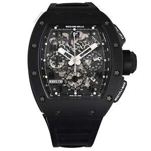 Richard Mille RM 011 Black Phantom PVD Ceramic Carbon Rubber Watch