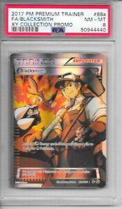 Pokemon PSA 8 NM-MT Premium Trainer XY Coll. PROMO FA Blacksmith #88a Card - NEW