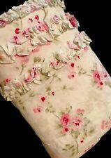 Simply Shabby Chic Shower Curtain Cherry Blossom Ruffles EUC