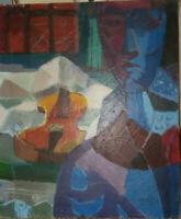 Listed Artist Jack Wolfe 1924-2007 Original Oil Painting. Signed. Vintage