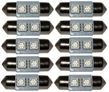 10x ampoule C5W 12V 2LED SMD bleu 31mm navette éclairage intérieur plaque coffre