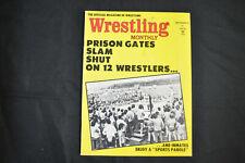 WRESTLING MONTHLY MAGAZINE - SEPTEMBER 1973 - PRISON GATES SLAM SHUT! (F-VF)