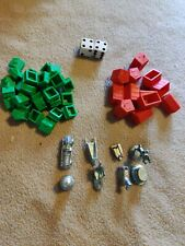 Monopoly Tokens + Houses + Hotels + Dice