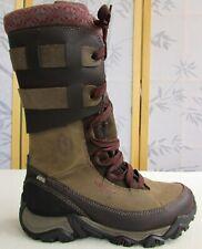 8 | Merrell Black Slate Polarand Rove Peak Women Brown Leather Winter Snow Boot