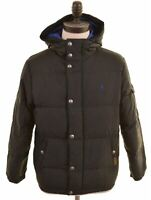 POLO RALPH LAUREN Boys Padded Jacket 10-11 Years Medium Black Polyester  FA04