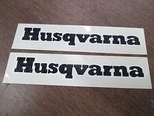 "Vintage Husqvarna Husky Motocross Motorcycle 1x6.25"" Sticker Decal Graphic QTY2"