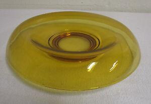 Vintage Amber Rolled Edge Bowl