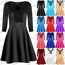 Women's Polyester Plus Size Skater Dresses