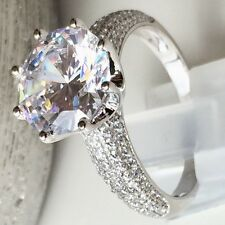 6CT Diamond Engagement Ring Solid 925 Sterling Silver AMAZING SPARKLE CLARITY