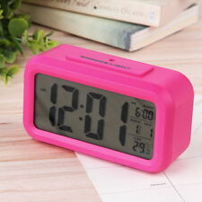 Digital Snooze LED Alarm Clock Backlight Time Calendar Thermometer Temperature