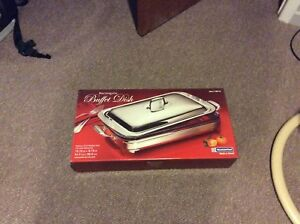 Tramontina Rectangular Buffet Dish w/ Cover Stainless Steel New in Box