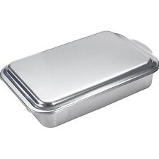 "Nordic Bakeware 9"" x 13"" Aluminum Covered Cake Pan Classic Delicious Brownies"