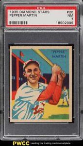 1935 Diamond Stars Pepper Martin #26 PSA 7 NRMT