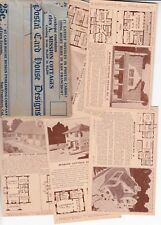 6 cards with mission cottages blueprint house designs and envelope PL