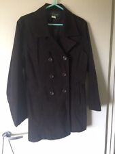 Ladies Valley Girl chocolate brown double breasted suede jacket - Size 12