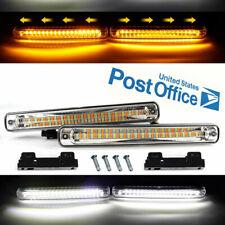 12V White / Yellow Car LED Daytime Running Light DRL Turn Signal Light 12W