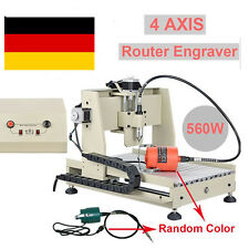 4 Axis CNC 3040 Router Graviermaschine Drlling Milling Graviergerät +Mach3 560W