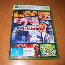 XBOX 360 GAME - DYNASTY WARRIORS STRIKEFORCE  + BOOKLET MANUAL
