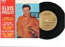ELVIS PRESLEY LOVE IN LAS VEGAS RECORD PICTURE SLEEVE VIVA LAS VEGAS AUSTRALIA