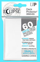 60 ULTRA PRO ECLIPSE WHITE SMALL Size PRO-MATTE DECK PROTECTOR Card Sleeves Mini