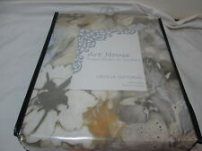 """New Art House Fabric Floral Shower Curtain 72""""X72"""" Cecilia Natural Nip"""