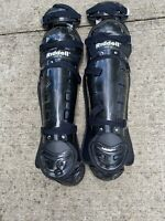 Riddell LG2-12 Catchers/Umpire Adult Size Shin Guards Black